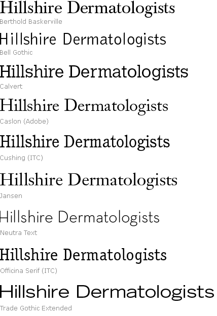 A Selection of fonts for a new project