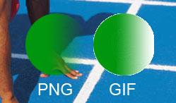 PNG vs GIF