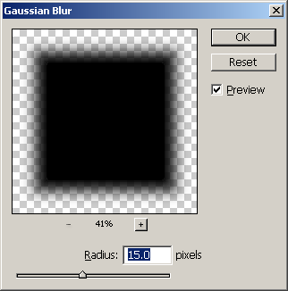 Gaussian Blur Setting